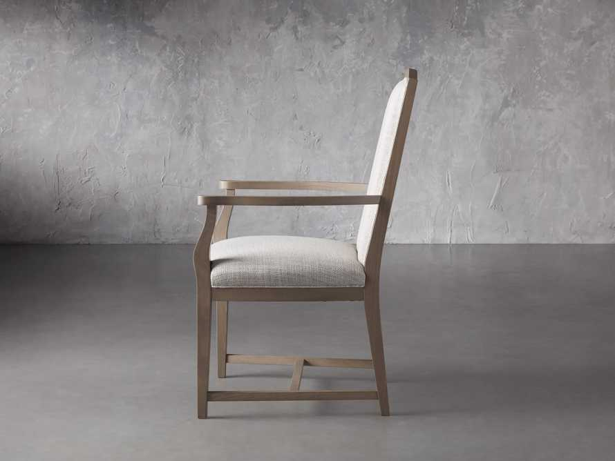 """Isabella 24""""Antique Blonde Dining Arm Chair in Tundra Cream, slide 3 of 7"""