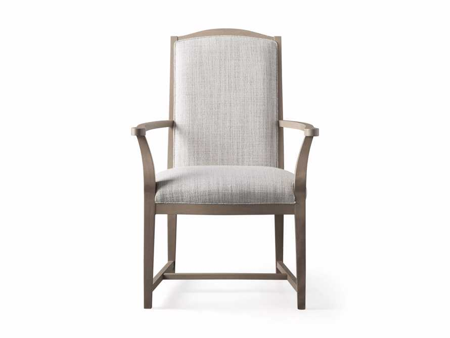 """Isabella 24""""Antique Blonde Dining Arm Chair in Tundra Cream, slide 6 of 7"""
