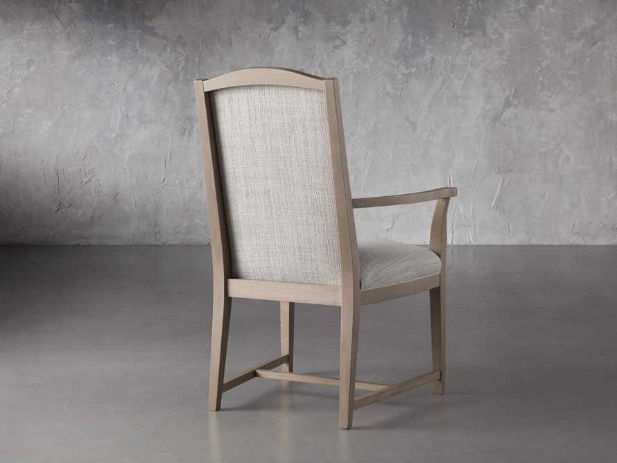 """Isabella 24""""Antique Blonde Dining Arm Chair in Tundra Cream, slide 4 of 7"""