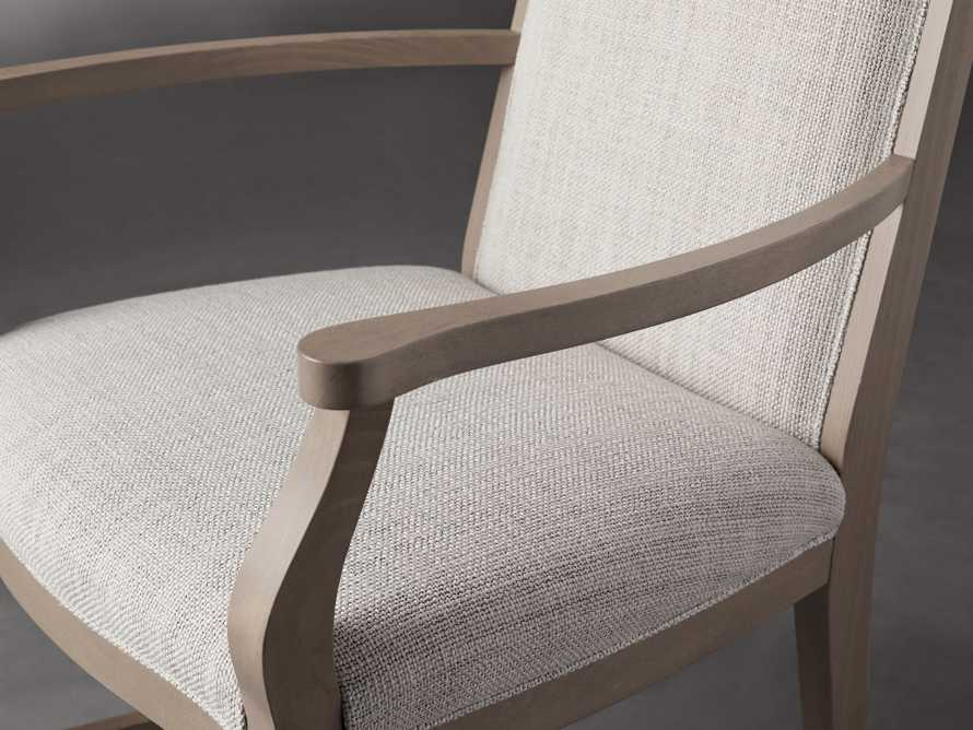 """Isabella 24""""Antique Blonde Dining Arm Chair in Tundra Cream, slide 5 of 7"""