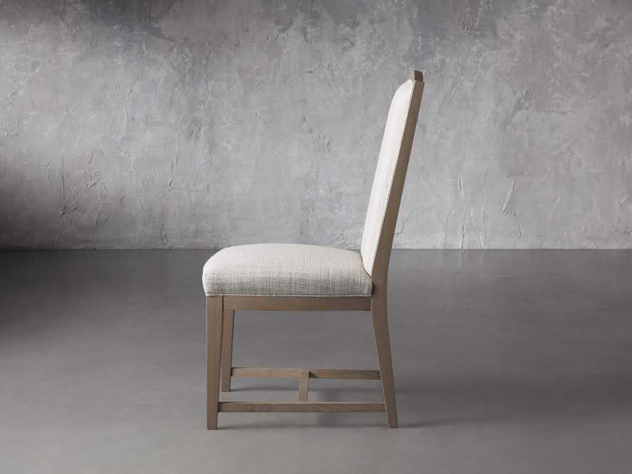 """Isabella 27""""Antique Blonde Dining Side Chair in Tundra Cream, slide 3 of 7"""