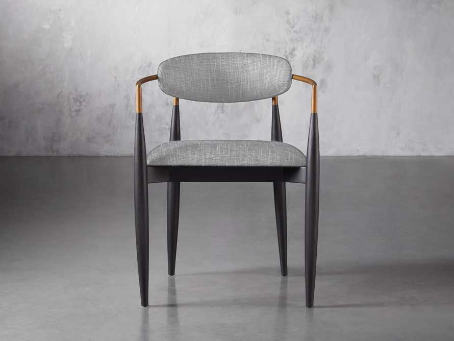 Jagger  Dining Arm Chair in Cary Grey, slide 1 of 8