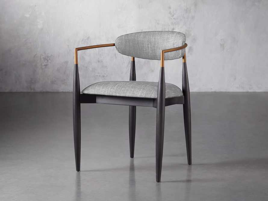 Jagger  Dining Arm Chair in Cary Grey, slide 2 of 8
