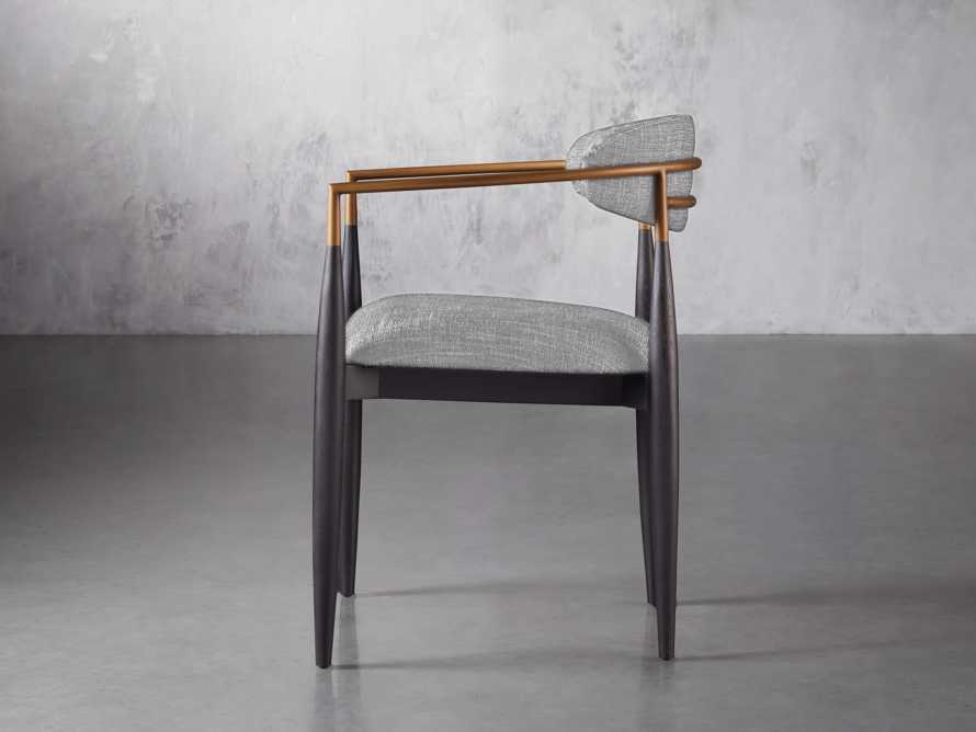 Jagger  Dining Arm Chair in Cary Grey, slide 3 of 8