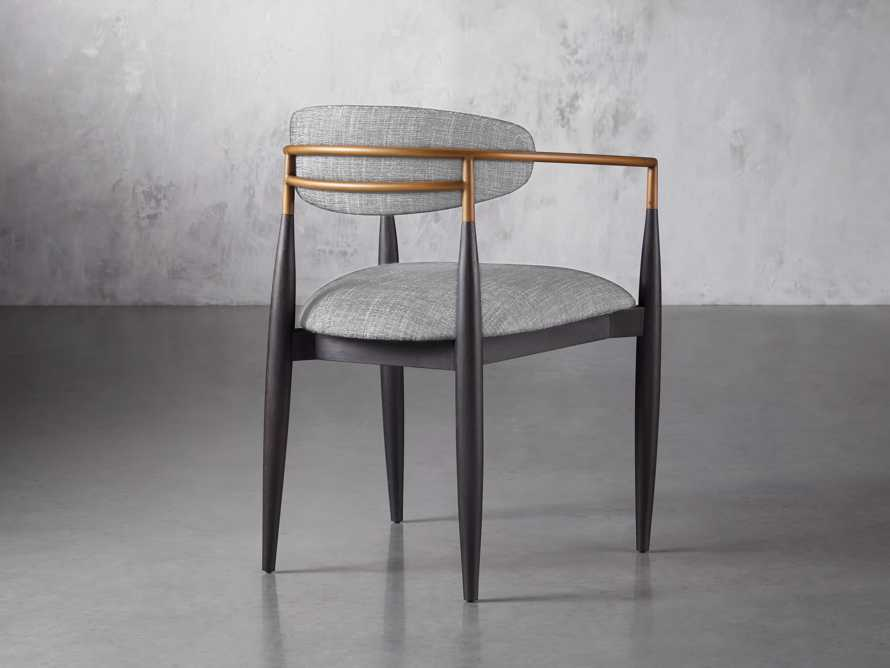 Jagger  Dining Arm Chair in Cary Grey, slide 4 of 8