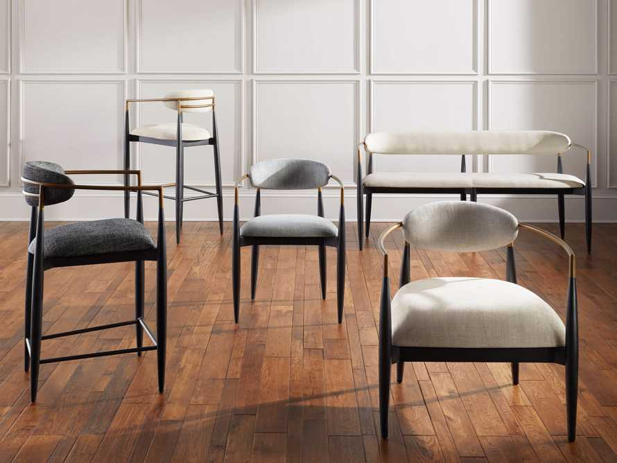 Jagger  Dining Arm Chair in Cary Grey, slide 6 of 8