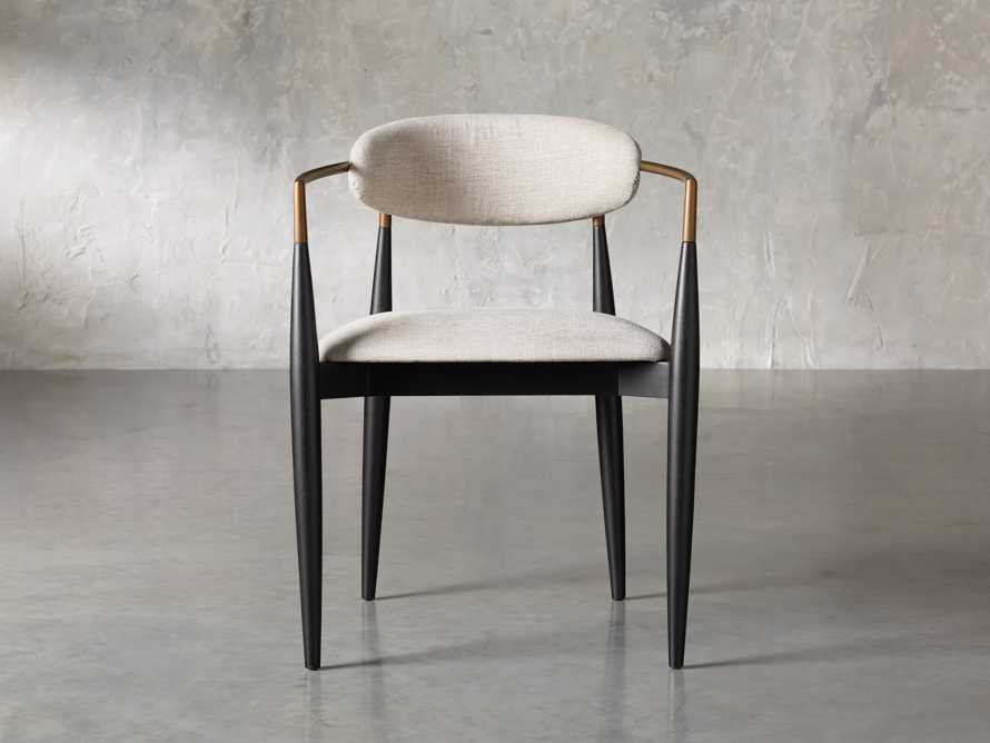 """Jagger 22"""" Dining Arm Chair in Cary Linen, slide 2 of 10"""