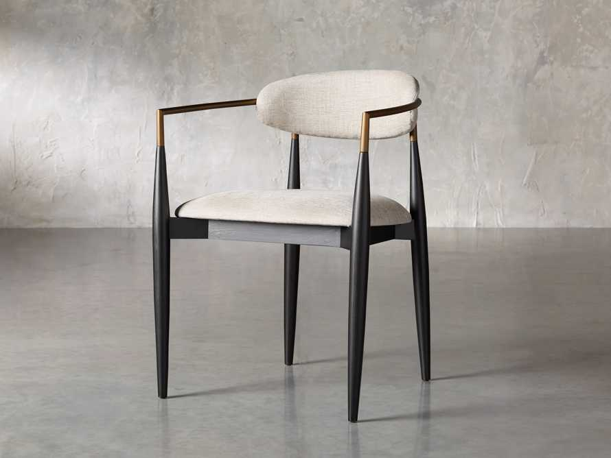 """Jagger 22"""" Dining Arm Chair in Cary Linen, slide 3 of 10"""