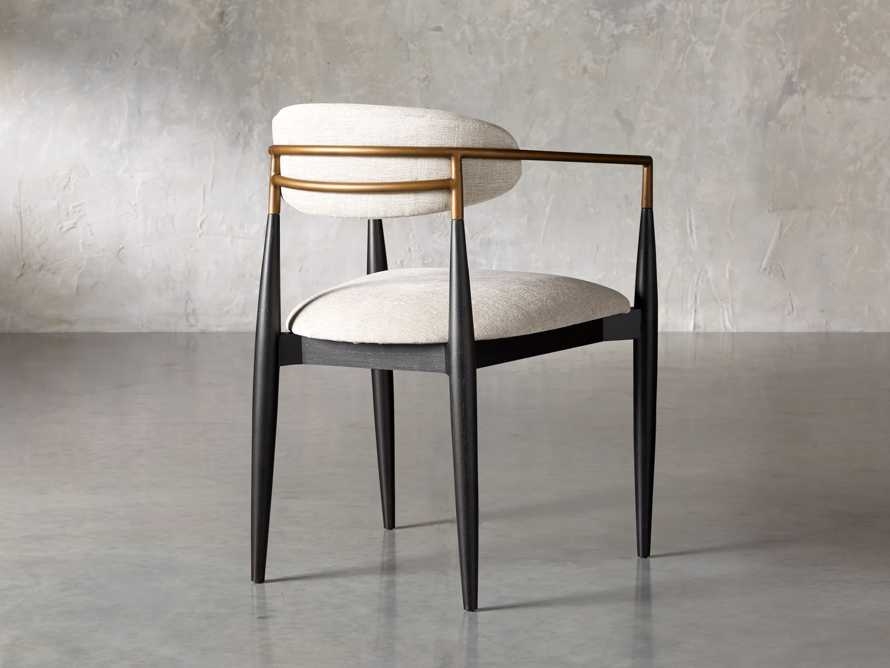 """Jagger 22"""" Dining Arm Chair in Cary Linen, slide 5 of 10"""