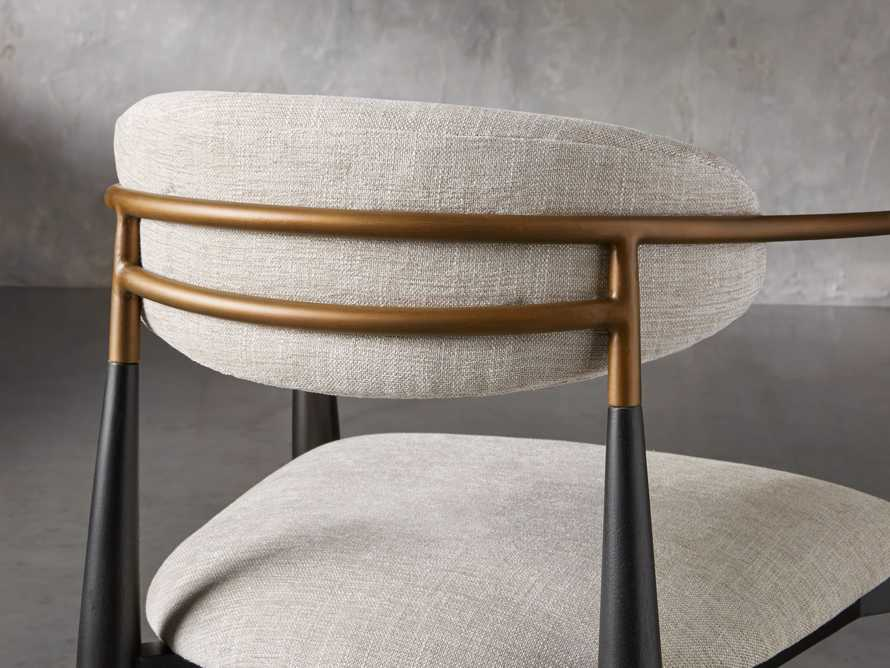 """Jagger 22"""" Dining Arm Chair in Cary Linen, slide 8 of 10"""
