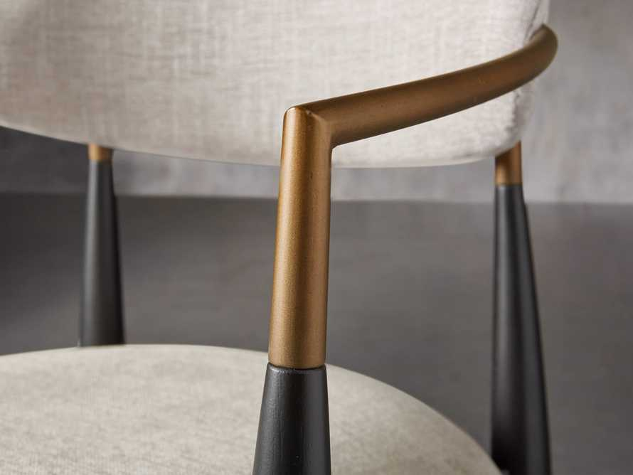 """Jagger 22"""" Dining Arm Chair in Cary Linen, slide 6 of 10"""