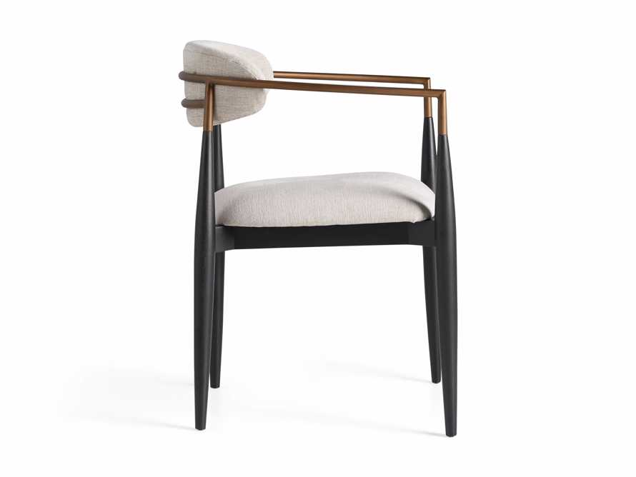 """Jagger 22"""" Dining Arm Chair in Cary Linen, slide 10 of 10"""