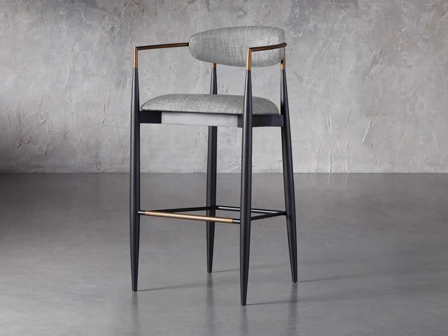 Jagger Barstool in Cary Grey, slide 2 of 6