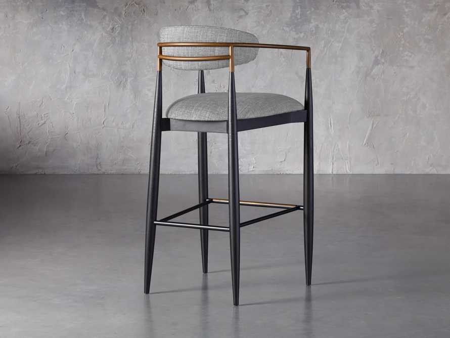 Jagger Barstool in Cary Grey, slide 4 of 6