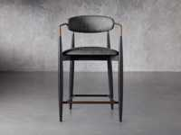 """Jagger 22"""" Counter Stool in Cary Black"""