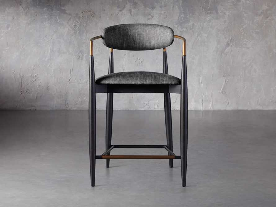 """Jagger 22"""" Counter Stool in Cary Black, slide 1 of 6"""