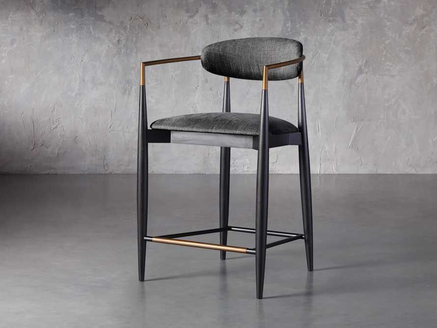 """Jagger 22"""" Counter Stool in Cary Black, slide 2 of 6"""