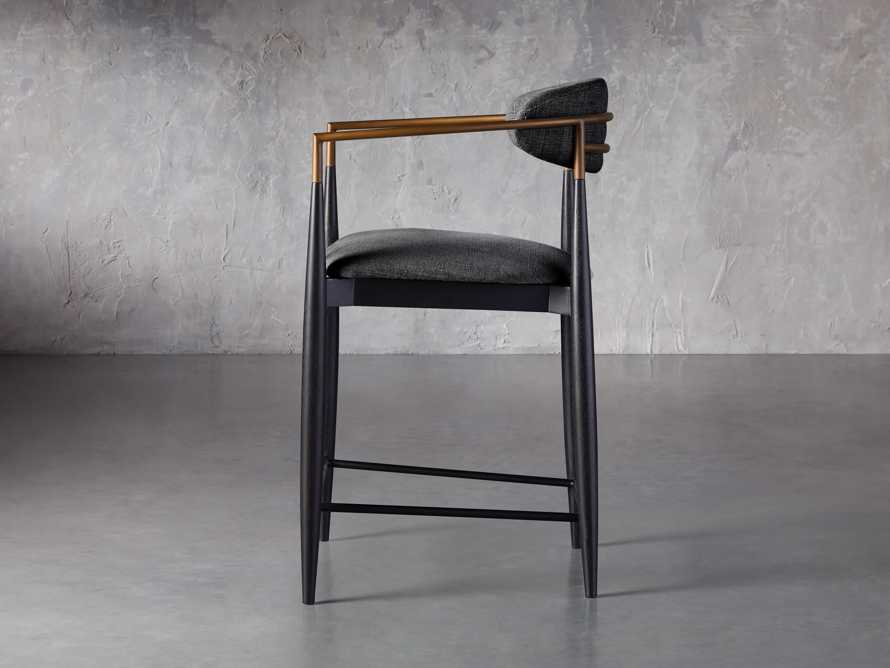 """Jagger 22"""" Counter Stool in Cary Black, slide 3 of 6"""