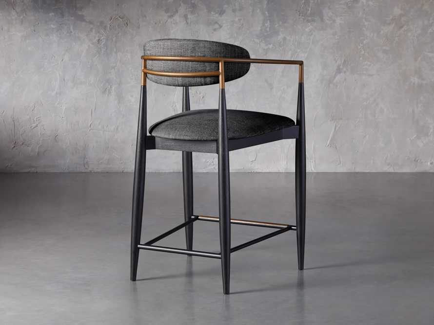 """Jagger 22"""" Counter Stool in Cary Black, slide 4 of 6"""