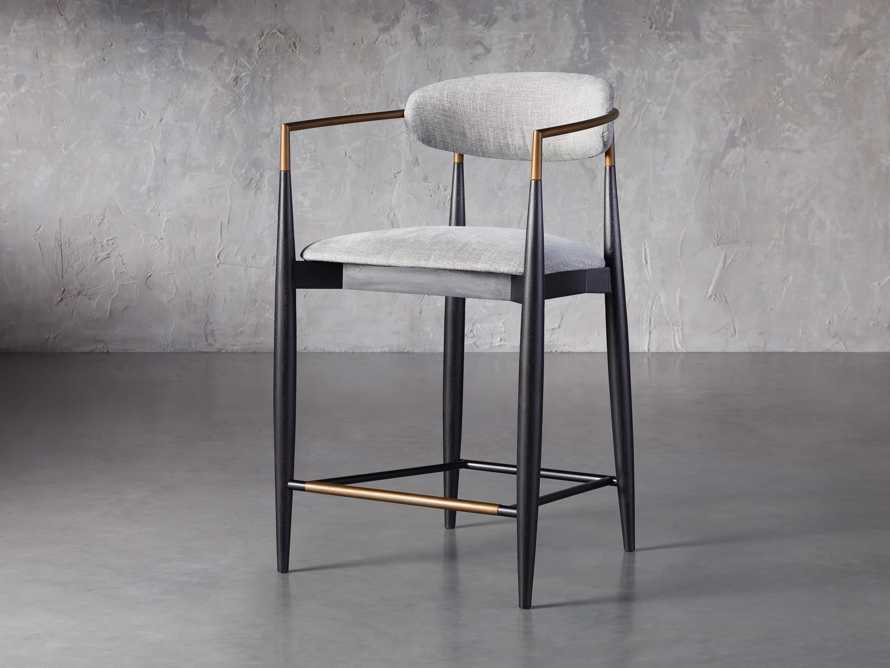 Jagger Counter Stool in Cary Grey, slide 2 of 6