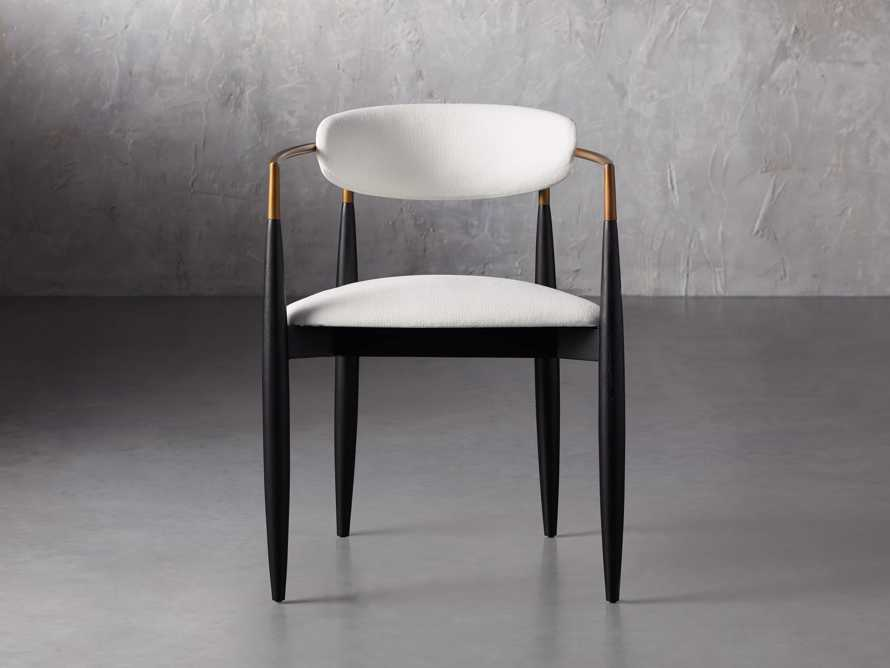 """Jagger 22"""" Dining Arm Chair in Crypton Downy Snow, slide 1 of 7"""