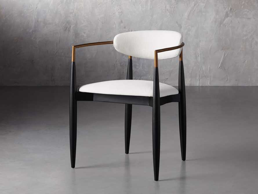 """Jagger 22"""" Dining Arm Chair in Crypton Downy Snow, slide 2 of 7"""
