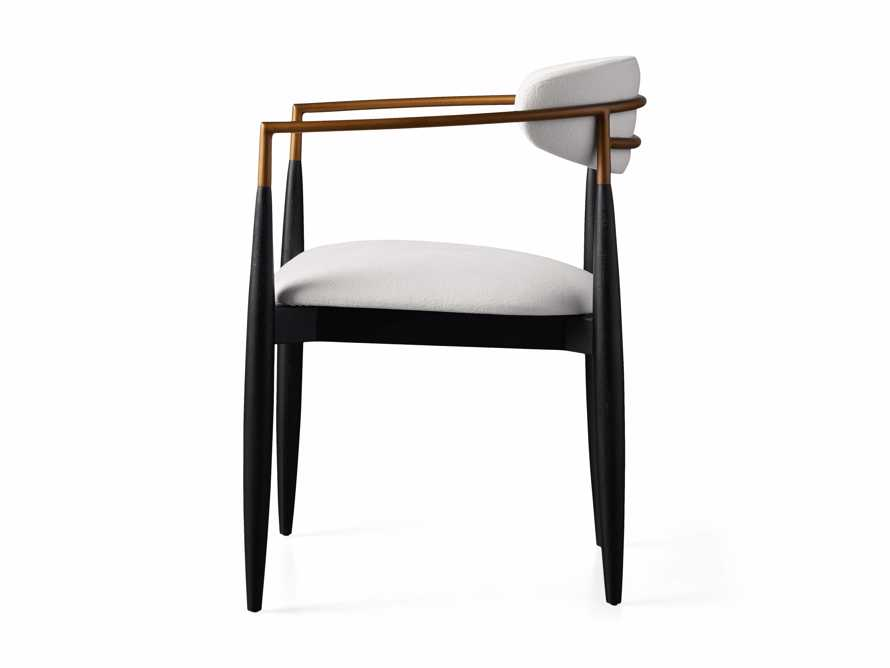 """Jagger 22"""" Dining Arm Chair in Crypton Downy Snow, slide 7 of 7"""