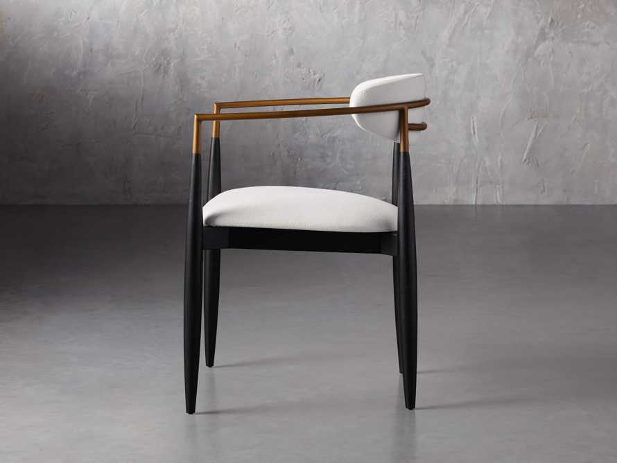 """Jagger 22"""" Dining Arm Chair in Crypton Downy Snow, slide 3 of 7"""