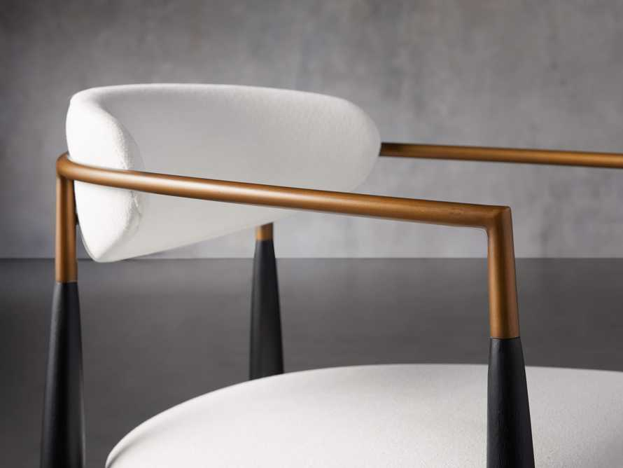 """Jagger 22"""" Dining Arm Chair in Crypton Downy Snow, slide 5 of 7"""