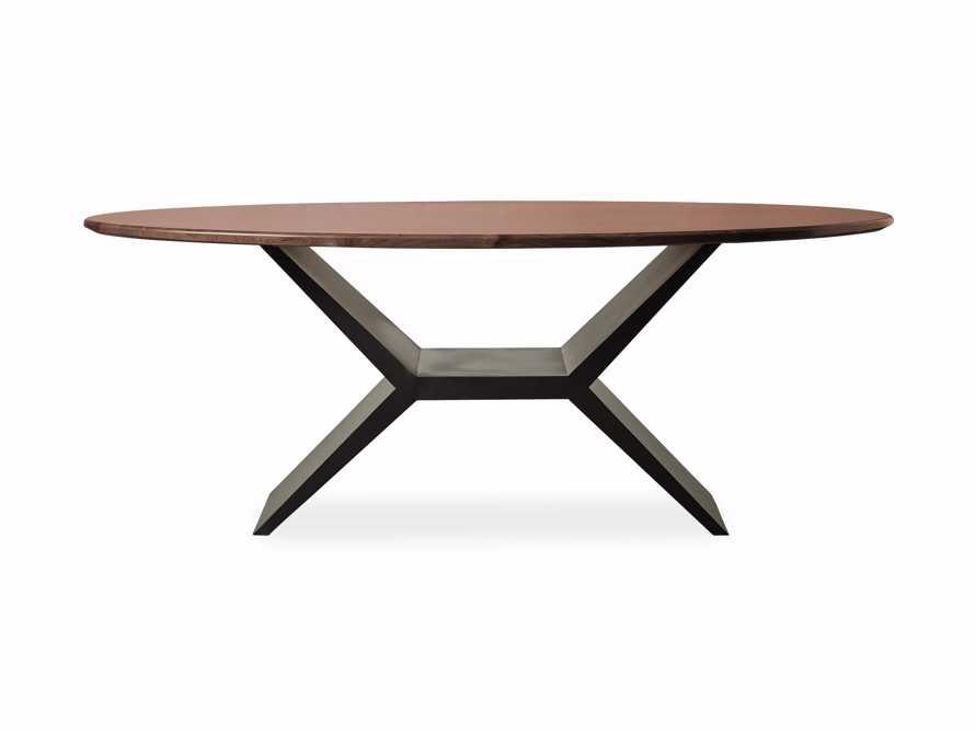 "Jacob 78"" Oval Dining Table Vertex Base in Walnut, slide 6 of 7"