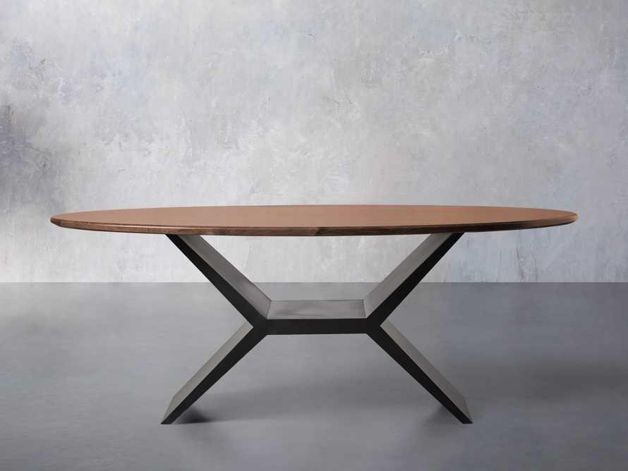 "Jacob 78"" Oval Dining Table Vertex Base in Walnut, slide 1 of 7"
