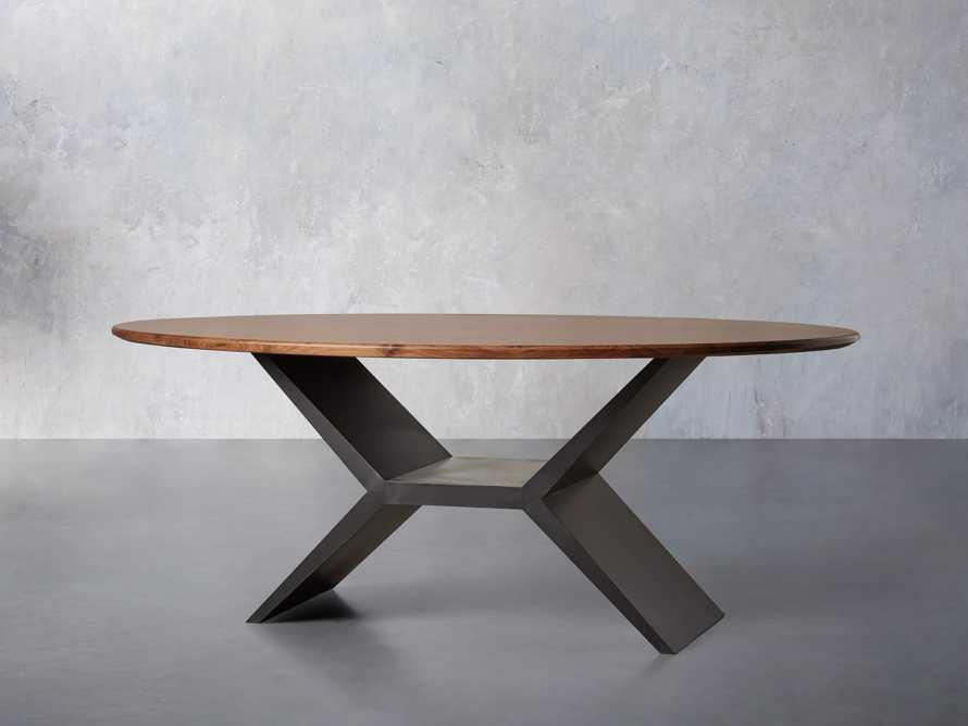 "Jacob 78"" Oval Dining Table Vertex Base in Walnut, slide 2 of 7"