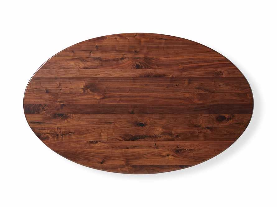 "Jacob 78"" Oval Dining Table Vertex Base in Walnut, slide 7 of 7"
