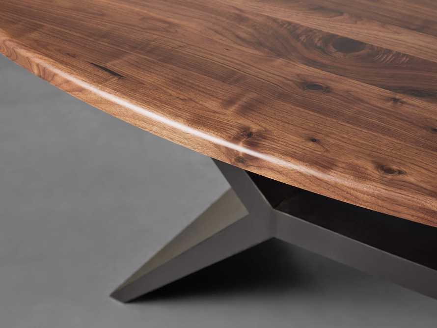 "Jacob 78"" Oval Dining Table Vertex Base in Walnut, slide 3 of 7"