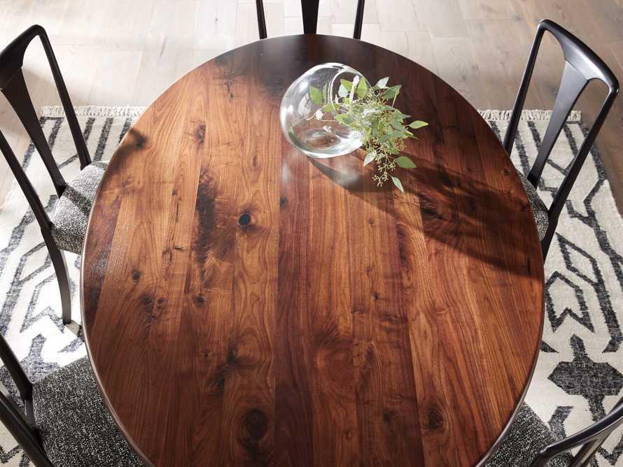 "Jacob 78"" Oval Dining Table Vertex Base in Walnut, slide 5 of 7"