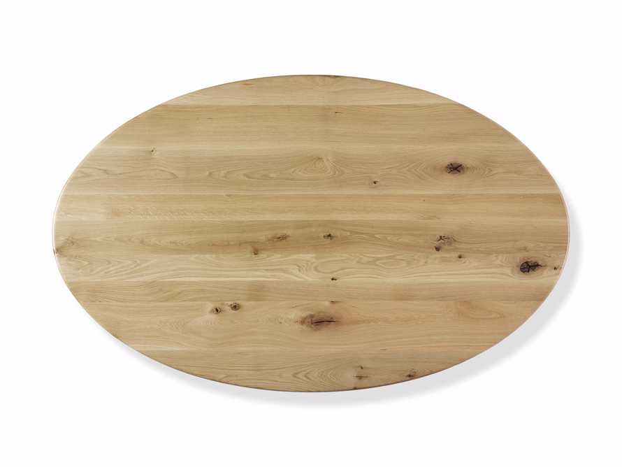 "Jacob 96"" Oval Dining Table Apex Base in White Oak, slide 4 of 5"