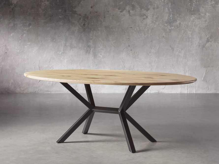 "Jacob 96"" Oval Dining Table Apex Base in White Oak, slide 2 of 5"