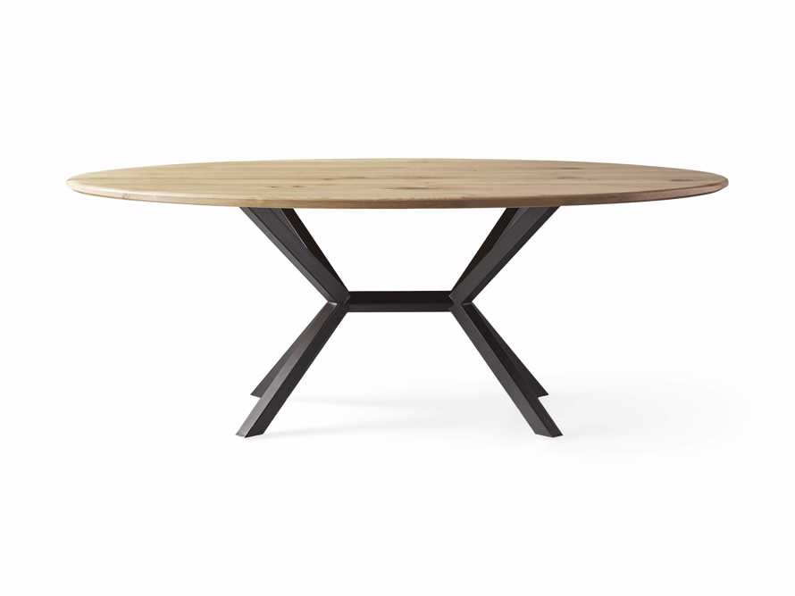 "Jacob 96"" Oval Dining Table Apex Base in White Oak, slide 5 of 5"
