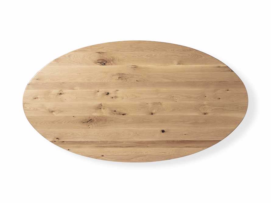 """Jacob 96"""" Oval Dining Table Origami Base in White Oak, slide 5 of 6"""