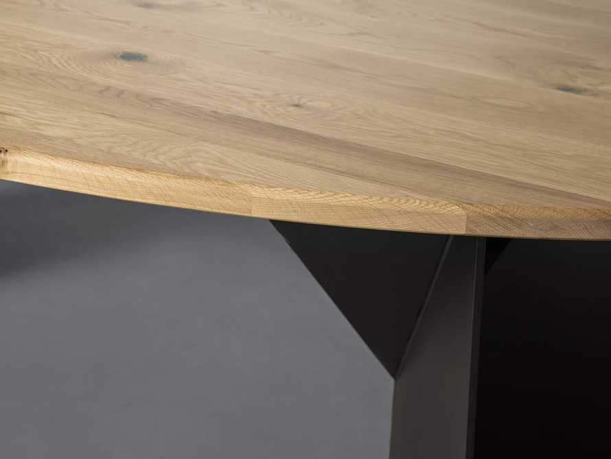 """Jacob 96"""" Oval Dining Table Origami Base in White Oak, slide 4 of 6"""
