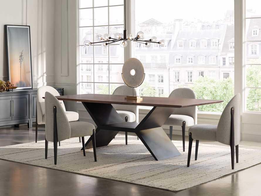 "Jacob 72"" Rectangle Dining Table Vertex Base in Walnut, slide 1 of 8"