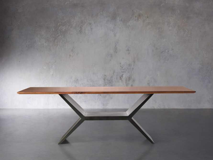 "Jacob 72"" Rectangle Dining Table Vertex Base in Walnut, slide 3 of 8"