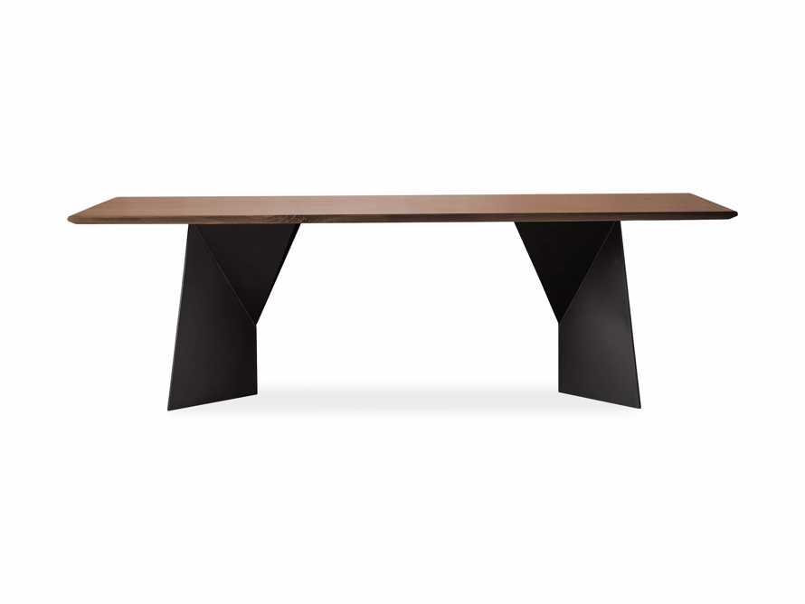 """Jacob 84"""" Rectangle Dining Table Origami Base in Walnut, slide 6 of 6"""