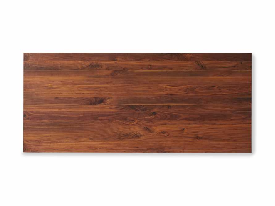 """Jacob 84"""" Rectangle Dining Table Origami Base in Walnut, slide 5 of 6"""