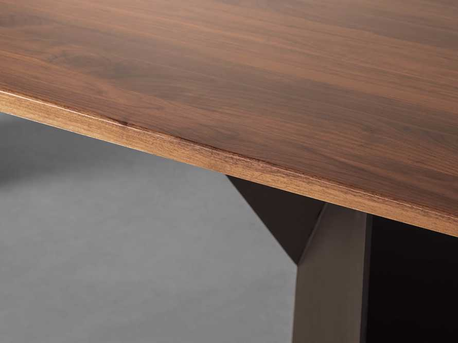 """Jacob 84"""" Rectangle Dining Table Origami Base in Walnut, slide 4 of 6"""