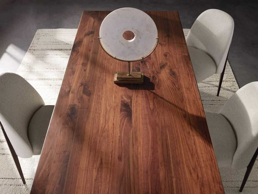 "Jacob 84"" Rectangle Dining Table Vertex Base in Walnut, slide 6 of 8"