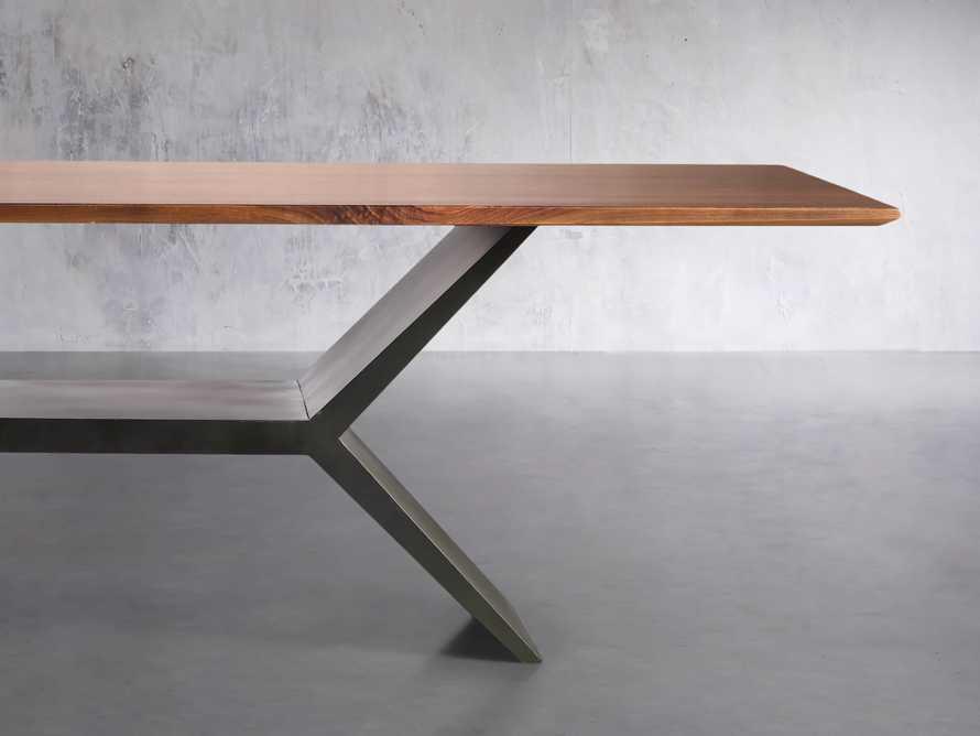 "Jacob 84"" Rectangle Dining Table Vertex Base in Walnut, slide 2 of 8"