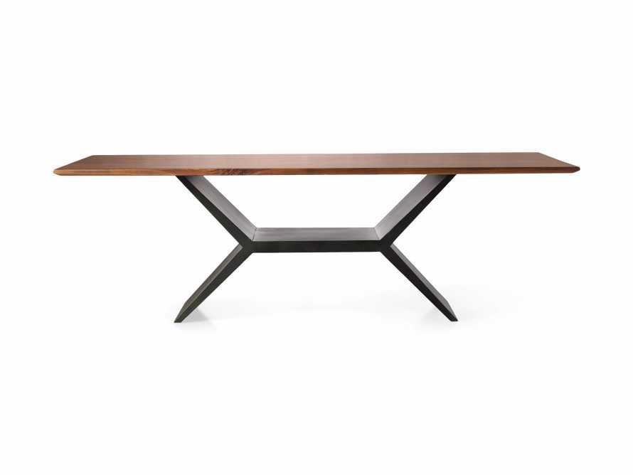 "Jacob 84"" Rectangle Dining Table Vertex Base in Walnut, slide 8 of 8"