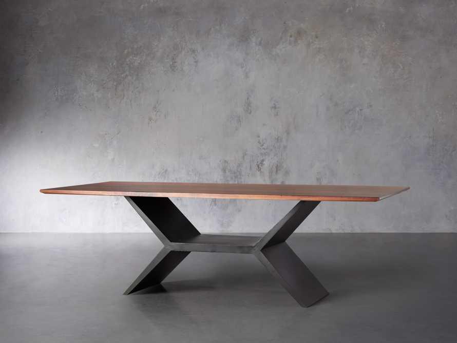 "Jacob 84"" Rectangle Dining Table Vertex Base in Walnut, slide 4 of 8"