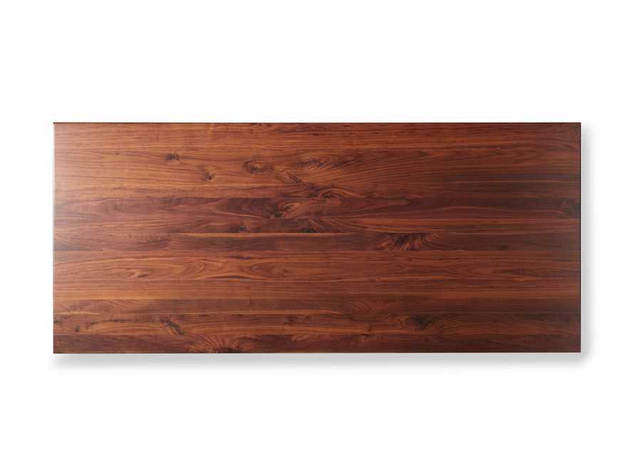 "Jacob 84"" Rectangle Dining Table Vertex Base in Walnut, slide 7 of 8"